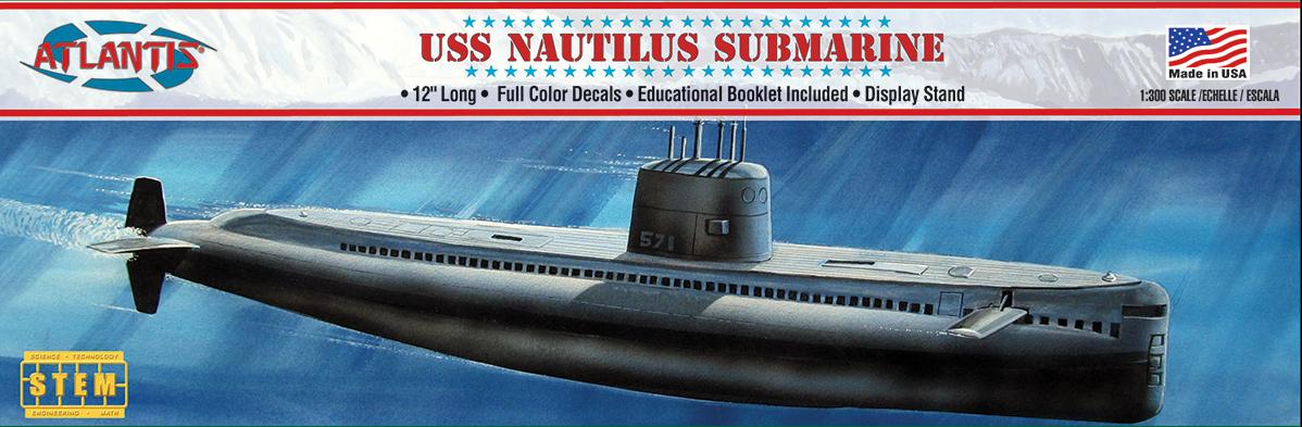 Atlantis 1/300 SSN 571 Nautilus Submarine