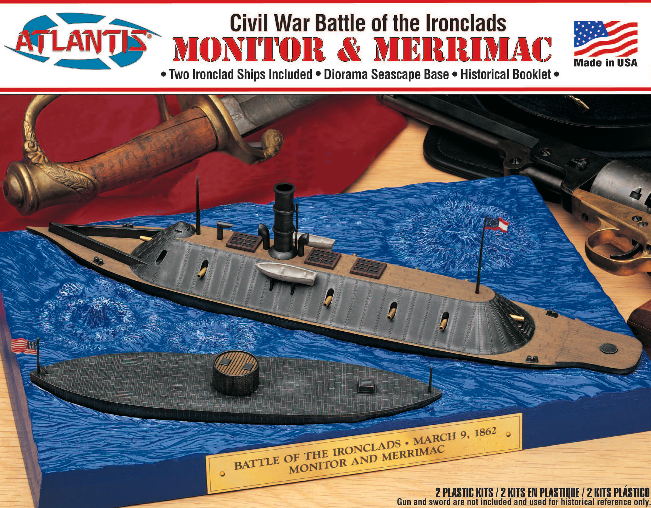Atlantis Monitor and Merrimack Civil War Set