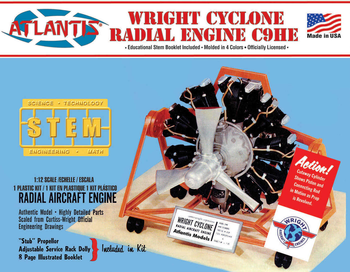Atlantis 1/12 Wright Cyclone 9 Radial Engine STEM