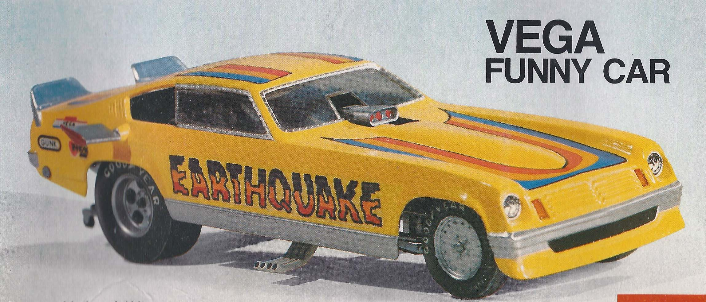 Atlantis 1/32 Snap Tom Daniel Earthquake Vega Funny Car