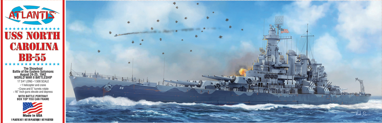 Atlantis 1/500 USS North Carolina BB-55 Battleship