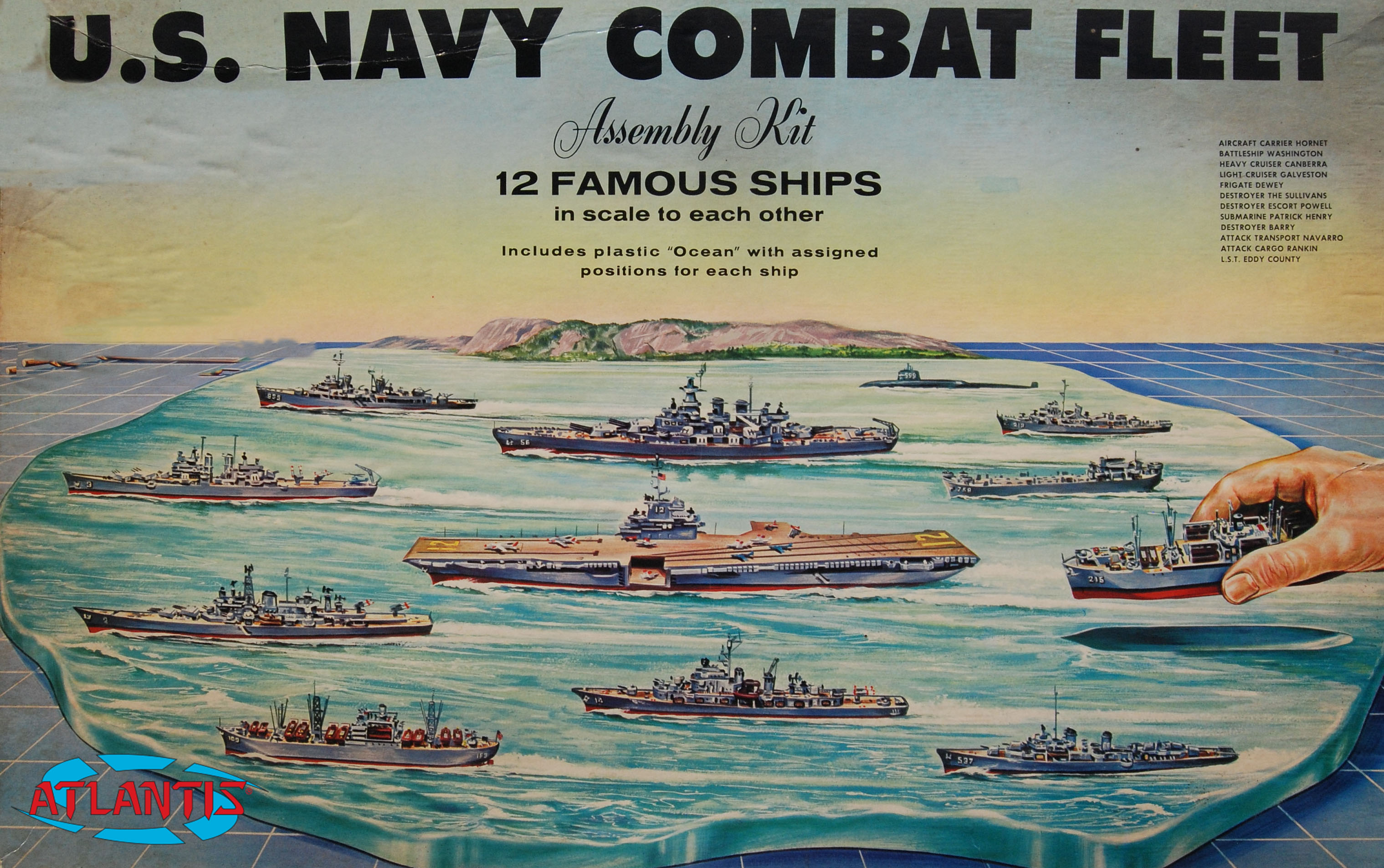Atlantis 1/1200 US Navy Task Force Set 12 Different Ships