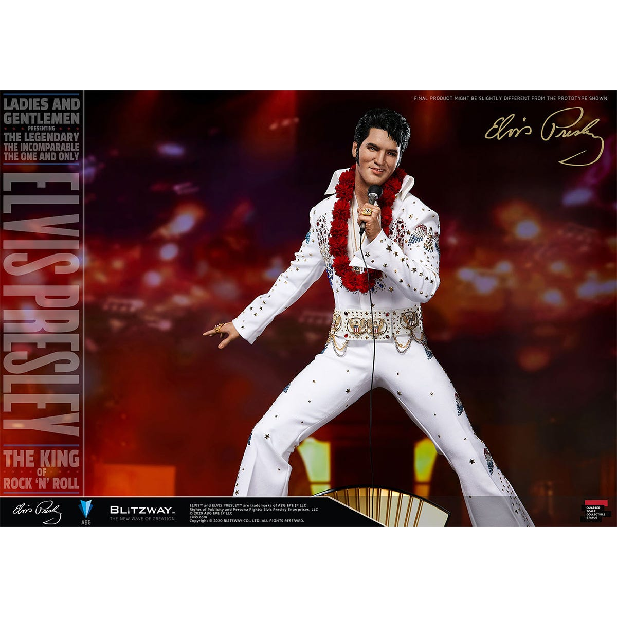 """Blitzway """"Elvis Presley"""", 1/4th Superb Scale Statue"""
