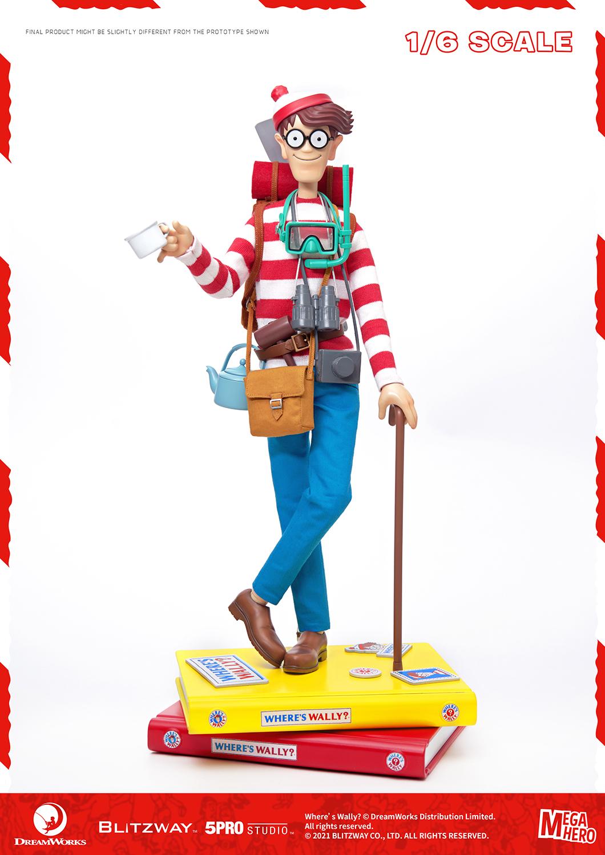 "Blitzway Waldo 1/6th Scale Action Figure ""Where's Waldo?"", 5Pro Studio MEGAHERO Series"