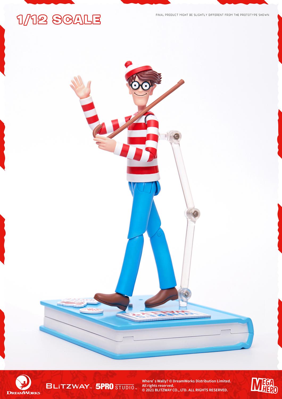 "Blitzway Waldo 1/12th Scale Action Figure (Normal version) ""Where's Waldo?"", 5Pro Studio MEGAHERO Series"