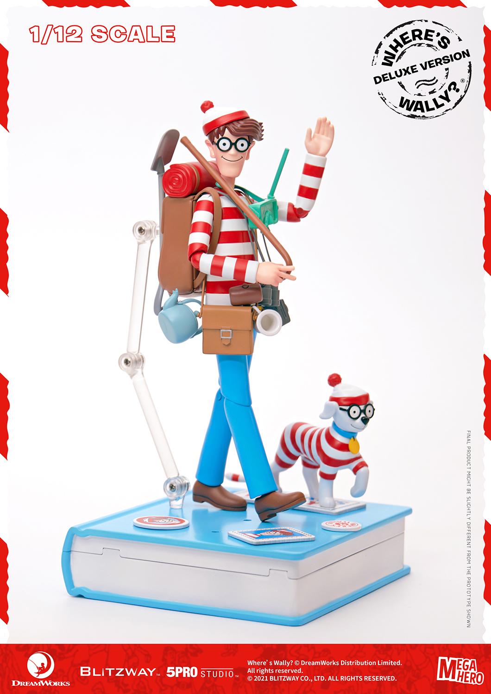 "Blitzway Waldo 1/12th Scale Action Figure (Deluxe version) ""Where's Waldo?"", 5Pro Studio MEGAHERO Series"