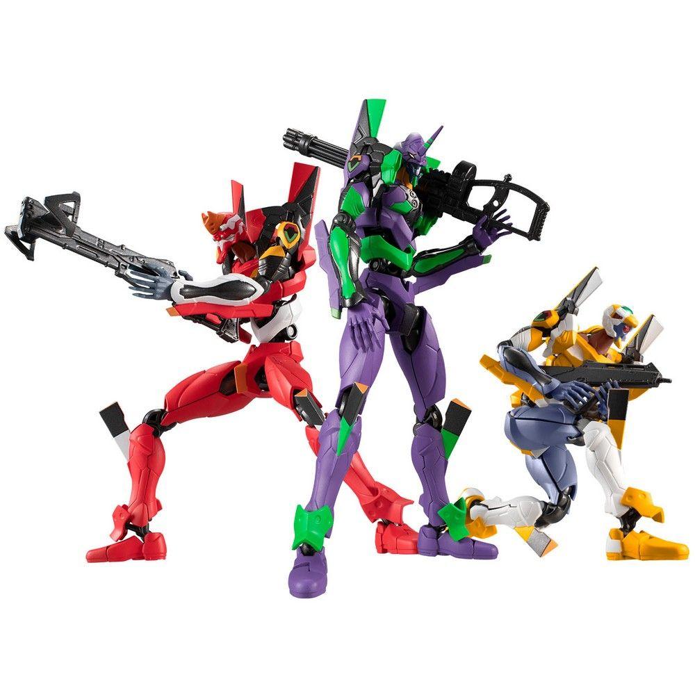 """Bandai Eva Frame 01, """"Neon Genesis Evangelion"""" (Box/4), Bandai Eva Frame (Each 4.3 Inch Tall approx)"""