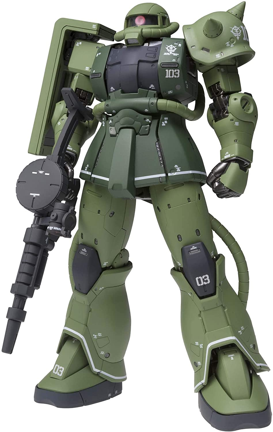 "Bandai MS-06C Zaku II Type C ""Mobile Suit Gundam: The Origin"", Bandai Gundam Fix Figuration Metal Composite"