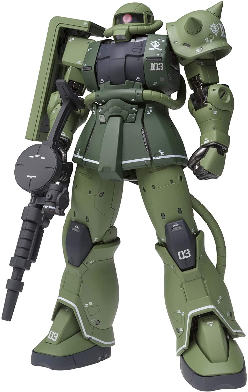"Bandai MS-06C Zaku II Type C ""Mobile Suit Gundam: The Origin"", Bandai Gundam Fix Figuration Metal Composite"