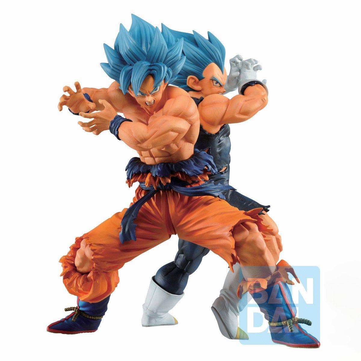 "Bandai Ichibansho Figure Son Goku(Super Saiyan God Super Saiyan)& Vegeta (Super Saiyan God Super Saiyan) (Vs Omnibus Super) ""Dragon Ball Super"""
