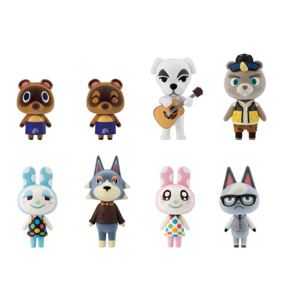 Bandai Shokugan Animal Crossing: New Horizons Tomodachi Doll Vol 2 , Set of 8