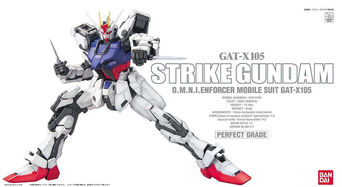 """Bandai Strike Gundam """"Gundam SEED"""", Bandai PG 1/60"""