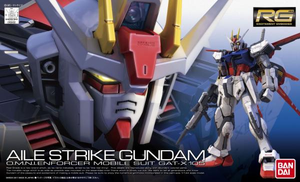 """Bandai #3 GAT-X105 Aile Strike Gundam """"Gundam SEED"""", Bandai RG"""