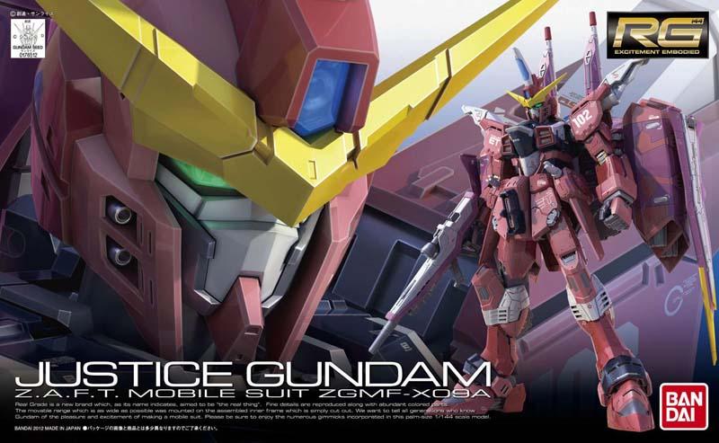 "Bandai #9 Justice Gundam ""Gundam SEED"", Bandai RG"