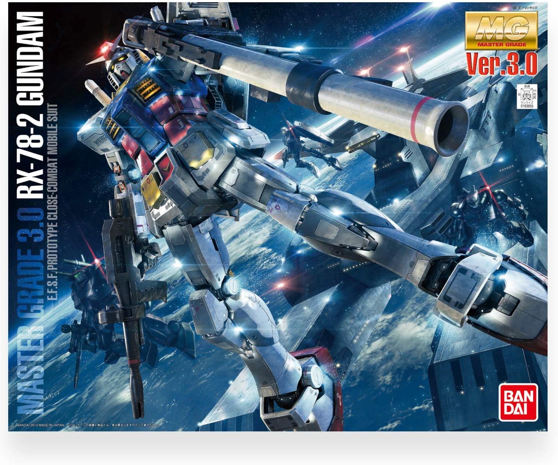 """Bandai RX-78-2 Gundam (Ver. 3.0) """"Mobile Suit Gundam"""", Bandai MG 1/100"""