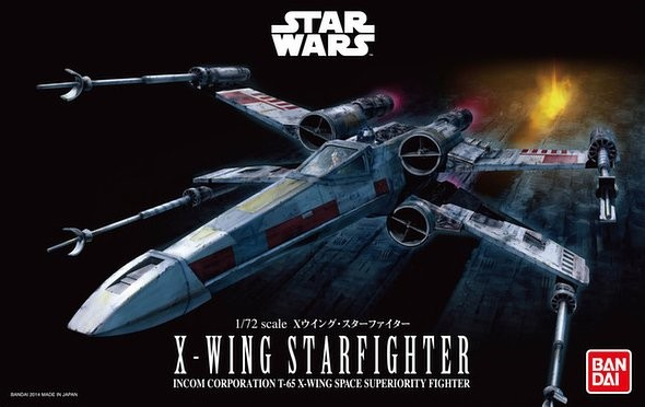 "Bandai X-Wing Star Fighter ""Star Wars"", Bandai Star Wars 1/72 Plastic Model"