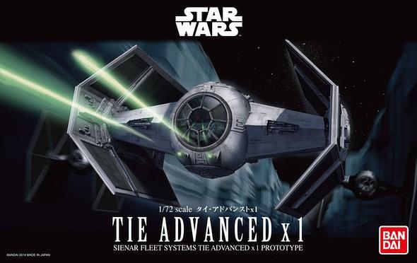 Bandai Star Wars 1/72 TIE Advanced x1