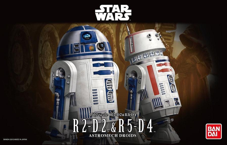 "Bandai R2-D2 & R5-D4 ""Star Wars"", Bandai Star Wars Character Line 1/12"