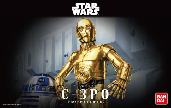 """Bandai C-3PO """"Star Wars"""", Bandai Star Wars Character Line 1/12"""