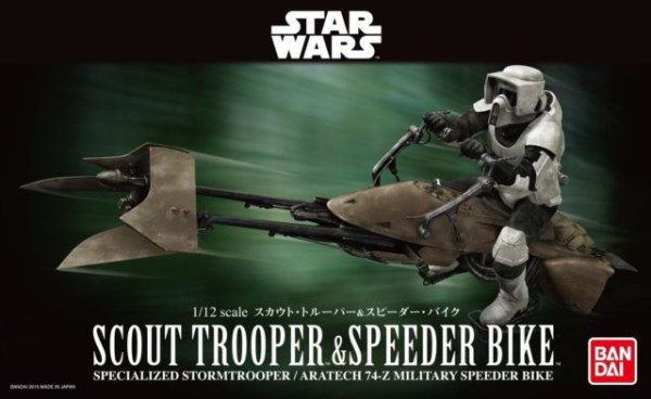 "Bandai Scout Trooper & Speeder Bike ""Star Wars"", Bandai Star Wars Character Line 1/12"