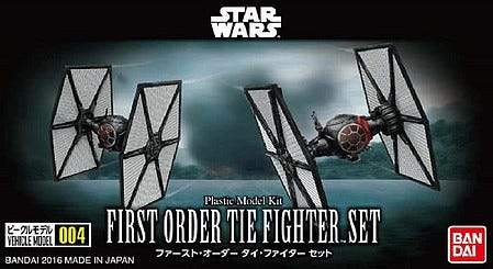 "Bandai 004 First Order TIE Fighter Set ""Star Wars"", Bandai VM"