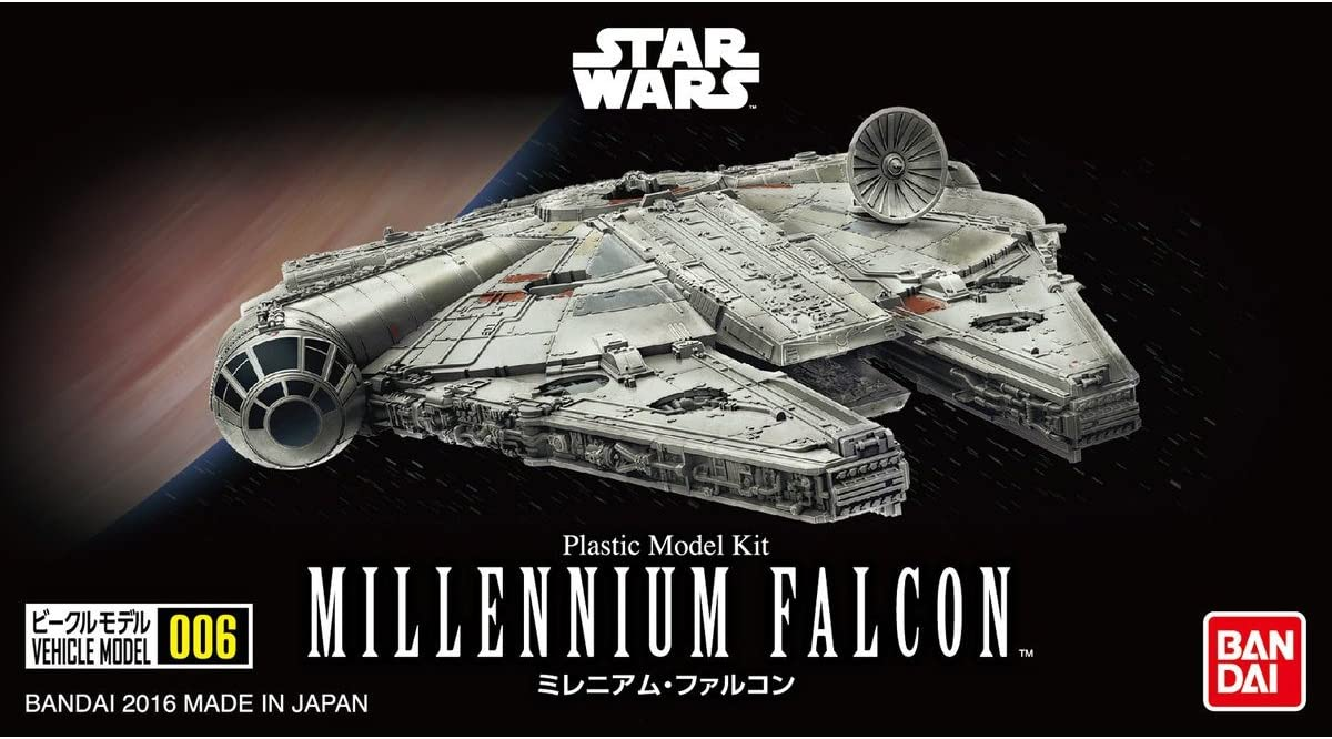 "Bandai 006 Millennium Falcon ""Star Wars"", Bandai Star Wars Vehicle Plastic 1/350 Model"