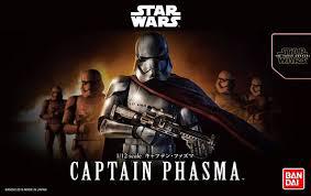 """Bandai Captain Phasma """"Star Wars"""", Bandai Star Wars Character Line 1/12"""