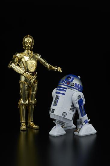 """Bandai C-3PO & R2-D2 """"Star Wars"""", Bandai Star Wars Character Line 1/12"""