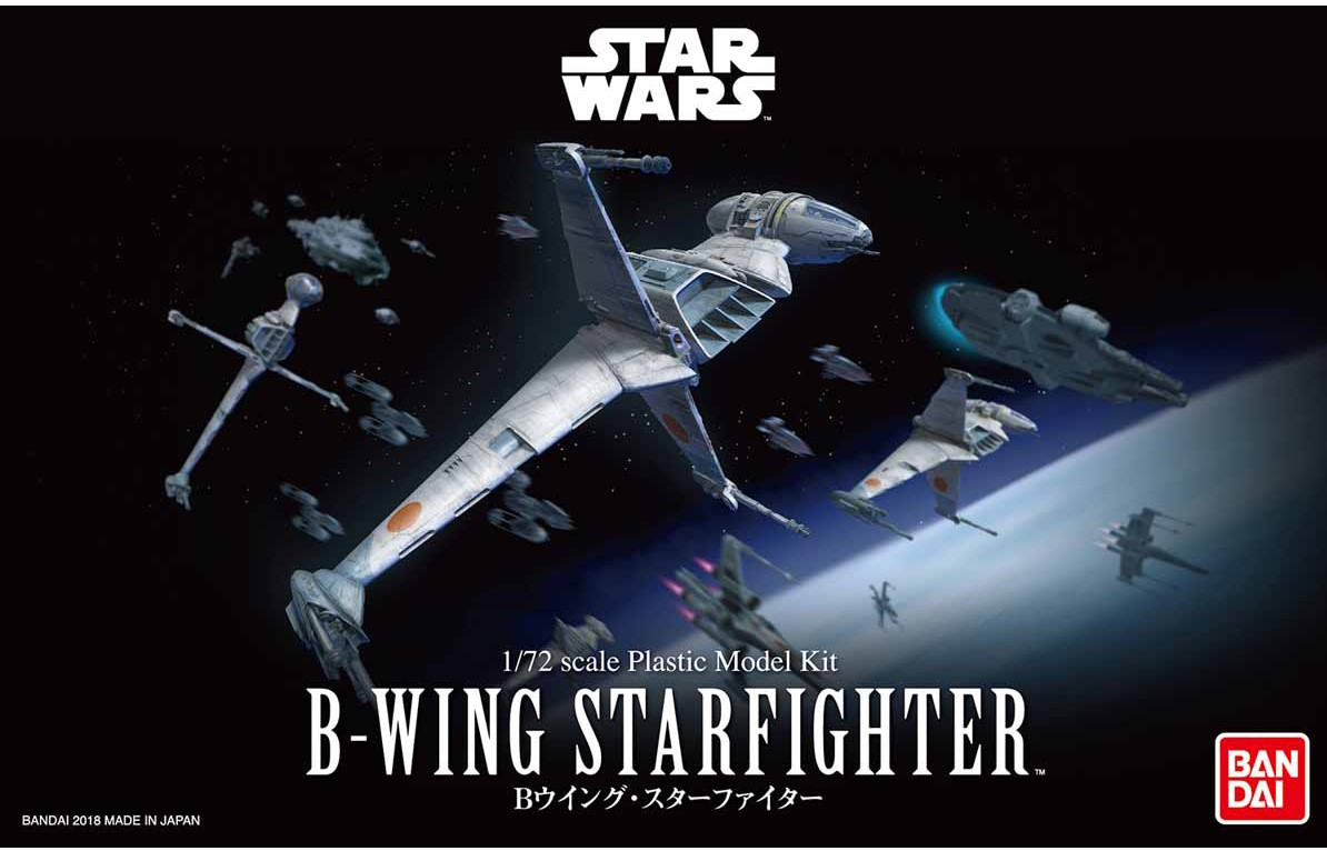 "Bandai B-Wing Starfighter ""Star Wars"", Bandai Star Wars 1/72 Plastic Model"