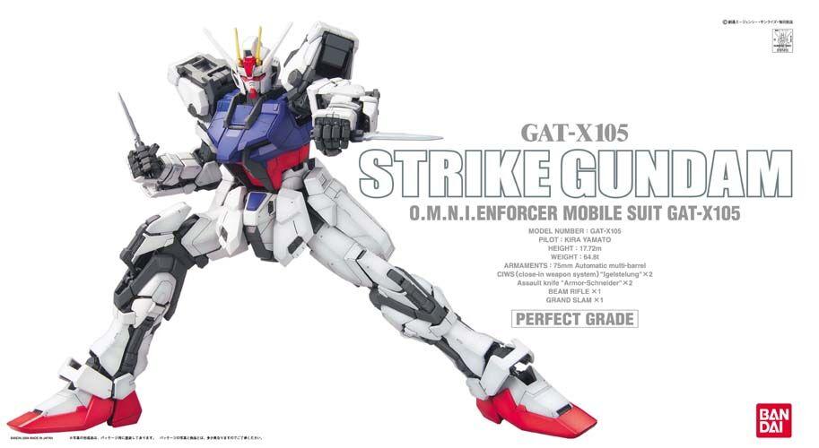 """Bandai PG 1/60 Strike Gundam """"Gundam SEED"""""""