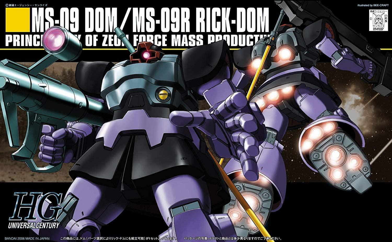 "Bandai HGUC #59 1/144 Dom/Rick-Dom ""Mobile Suit Gundam"""
