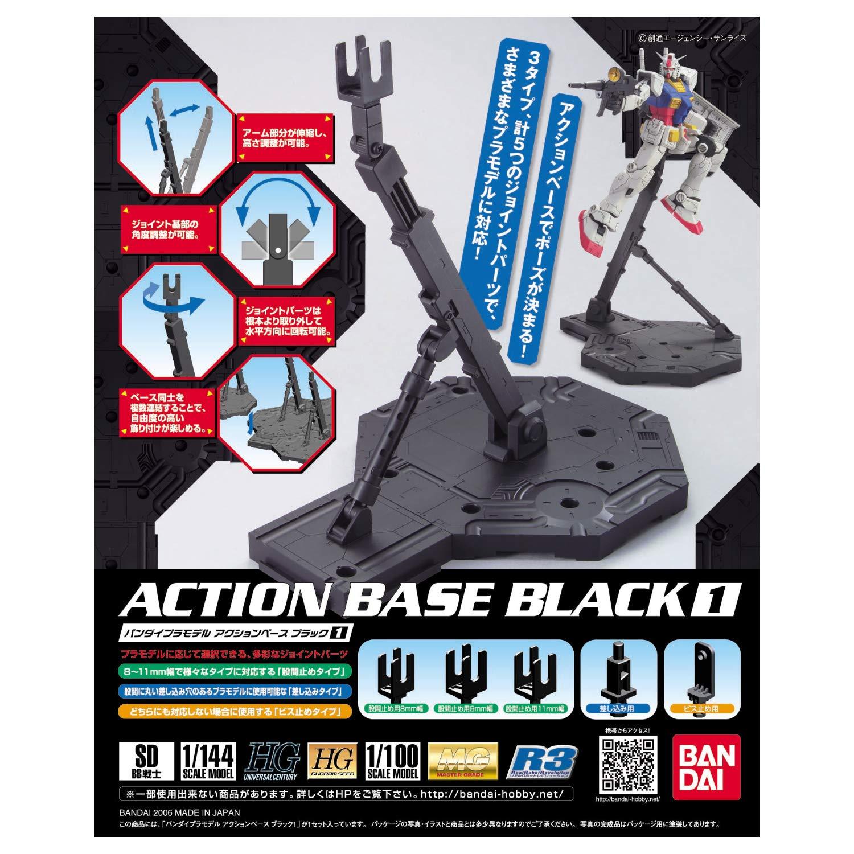 Bandai 1/100 Black Action Base 1 Display Stand