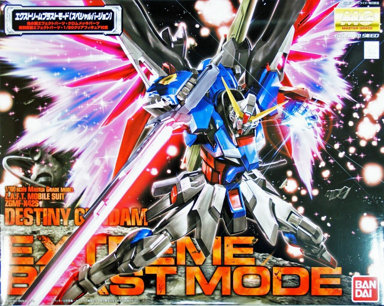 "Bandai MG 1/100 Destiny Gundam Extreme Blast Mode ""Gundam SEED Destiny"""