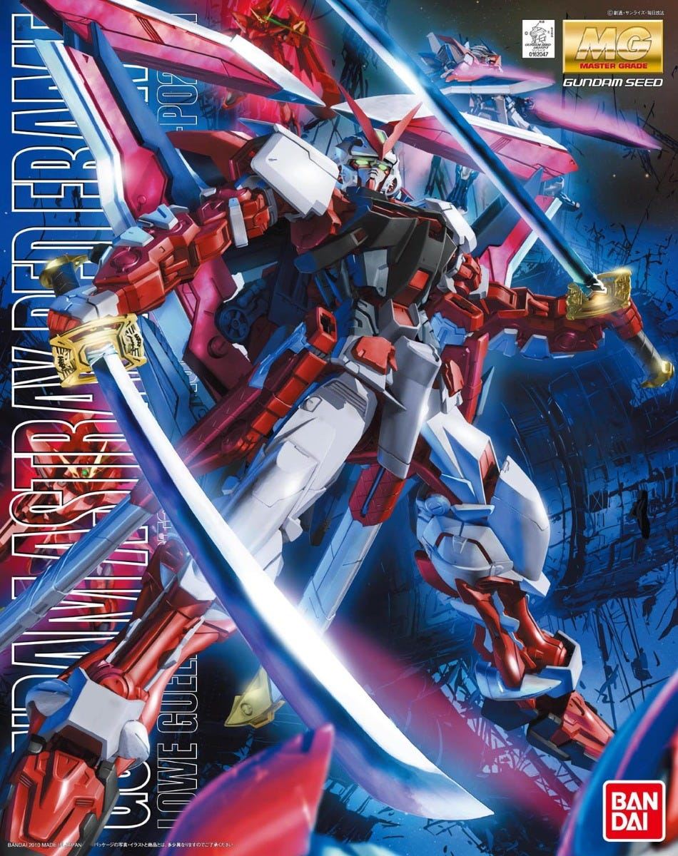 "Bandai MG 1/100 Gundam Astray Red Frame Custom ""Gundam SEED Astray"""