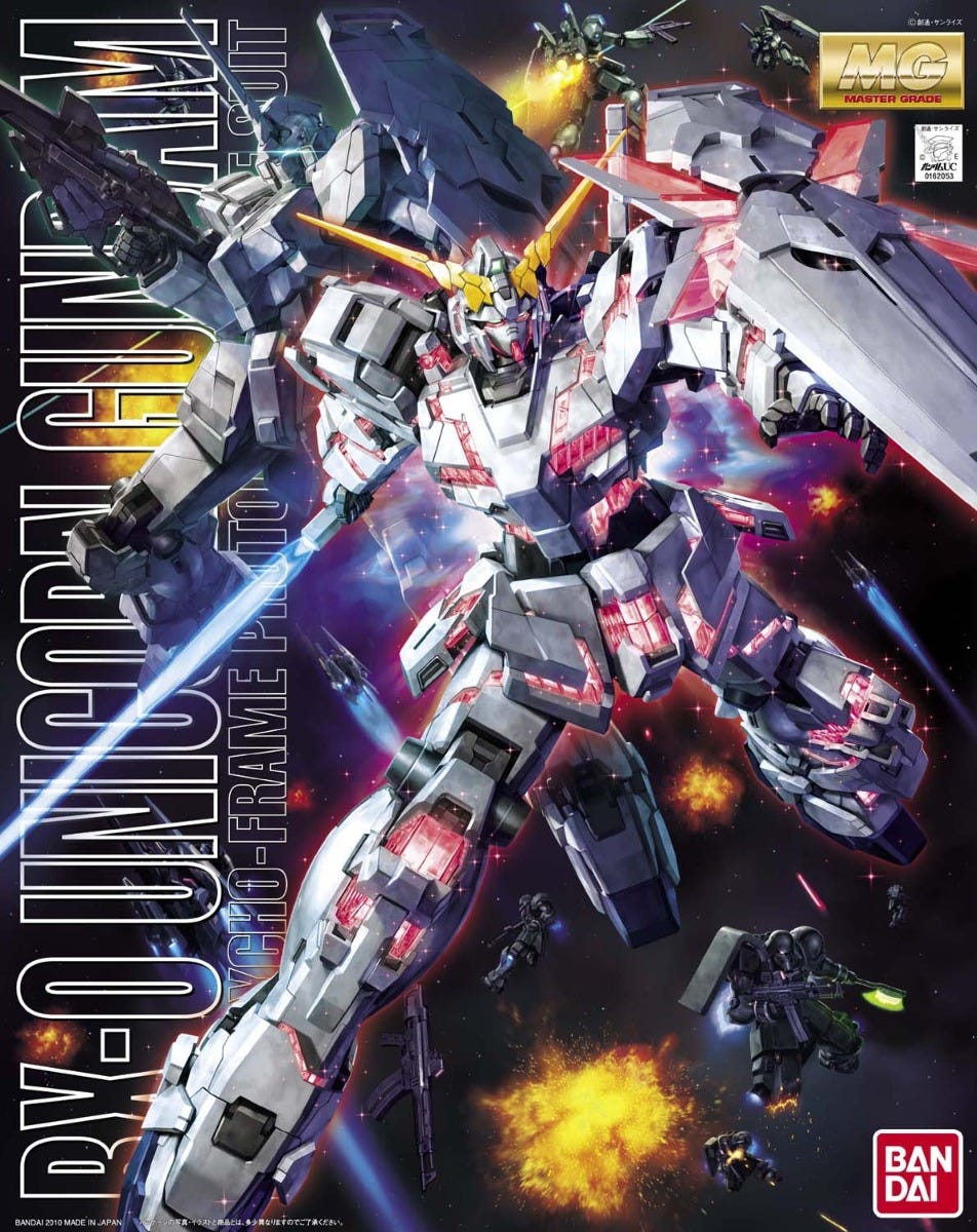 "Bandai MG 1/100 Unicorn Gundam ""Gundam UC"""