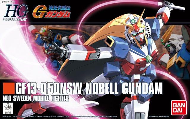 """Bandai HGFC #119 1/144 Nobel Gundam """"G Gundam"""""""