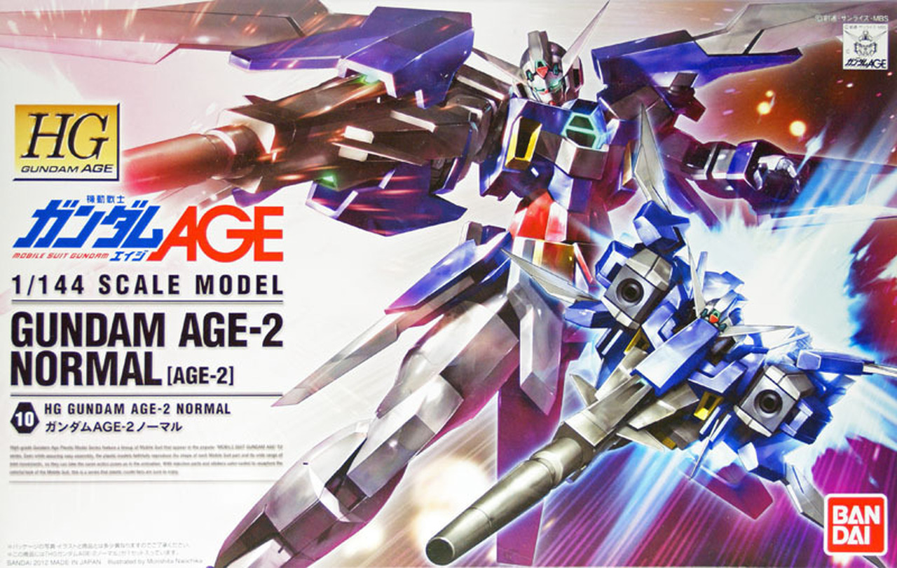 "Bandai HG #10 1/144 Gundam AGE-2 Normal ""Gundam AGE"""