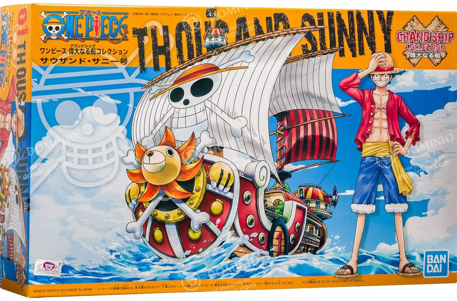 """Bandai One Piece Grand Ship Collection 01 Thousand Sunny Model Ship """"One Piece"""""""