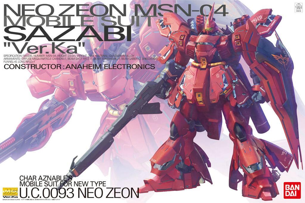 """Bandai MG 1/100 Sazabi (Ver. Ka) """"Char's Counterattack"""""""
