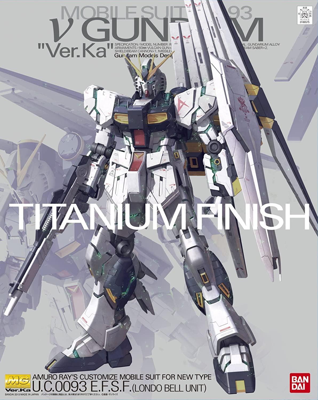 "Bandai MG 1/100 Nu Gundam Ver. Ka Titanium Finish ""Char's Counterattack"""