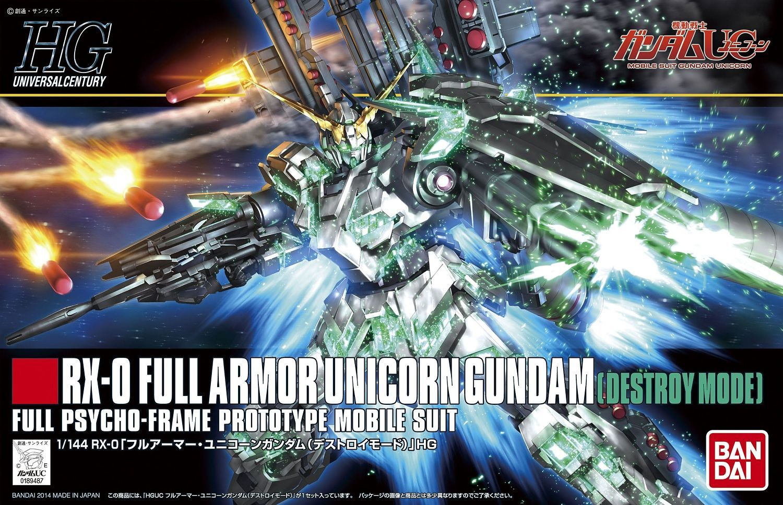 """Bandai HGUC #178 1/144 Full Armor Unicorn Gundam (Destroy Mode) """"Gundam UC"""""""
