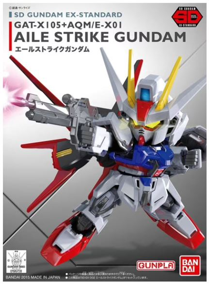 "Bandai SD EX-Standard #002 Aile Strike Gundam ""Gundam SEED"""