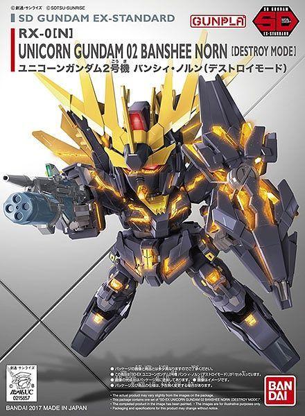 "Bandai SD Gundam EX-Standard #015 Unicorn Gundam 02 Banshee Norn (Destroy Mode) ""Gundam UC"""