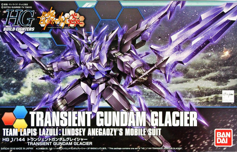 "Bandai HGBF #50 1/144 Transient Gundam Glacier ""Gundam Build Fighters"""