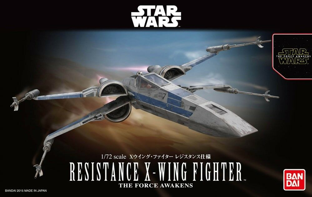 """Bandai Star Wars 1/72 Resistance X-Wing Star Fighter """"Star Wars: The Force Awakens"""""""