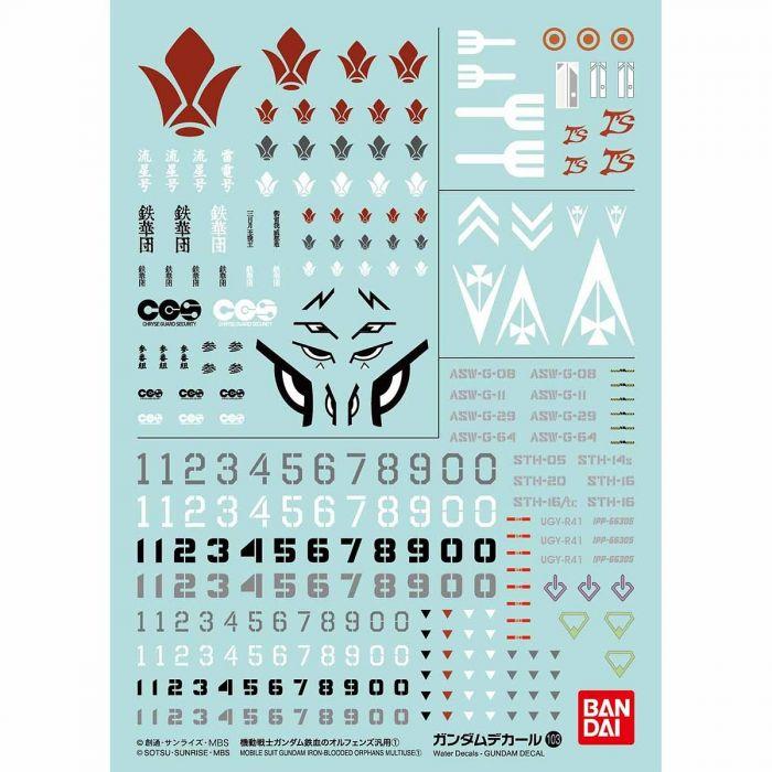 Bandai No.103 Mobile Suit Gundam Iron-Blooded Orphans 1 (Bag/6), Bandai Gundam Decal
