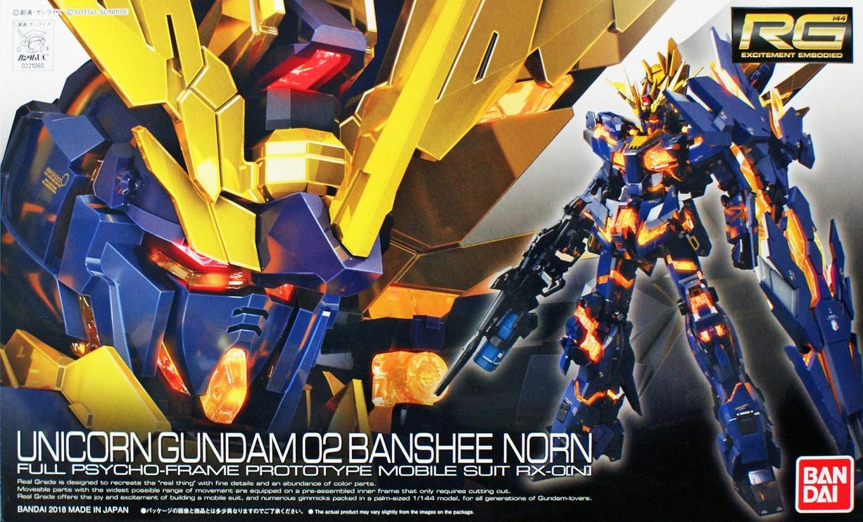 "Bandai RG #27 1/144 Unicorn Gundam 02 Banshee Norn ""Gundam UC"""