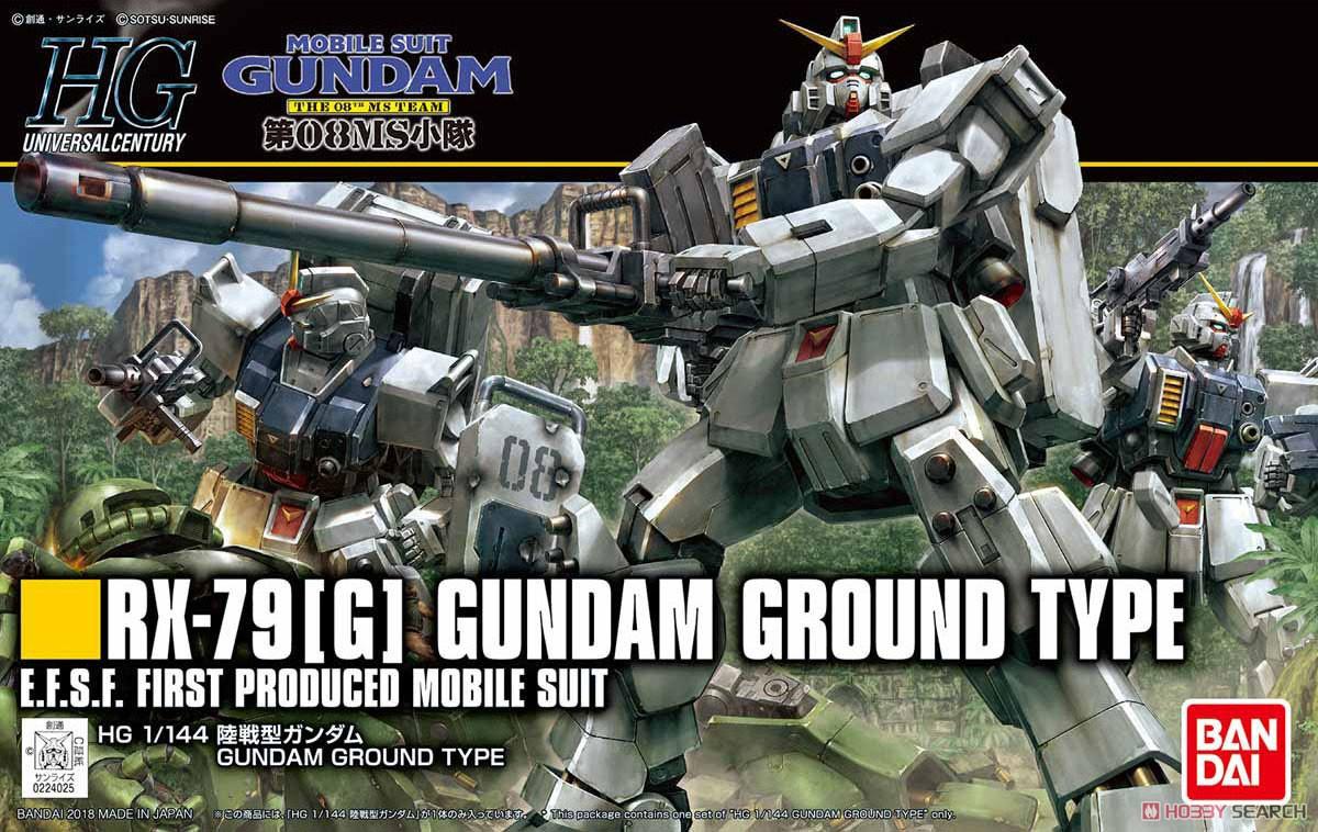 """Bandai HGUC #210 1/144 RX-79[G] Ground Gundam Type """"Gundam 08th MS Team"""""""