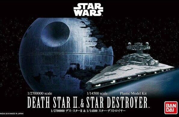 Bandai Star Wars 1/2700000 Death Star II & 1/14500 Star Destroyer