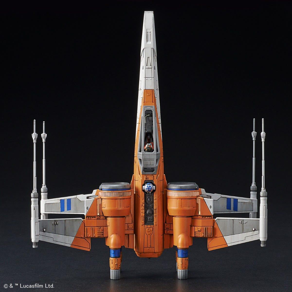 "Bandai Poe X-Wing Fighter (Rise of Skywalker Ver.) ""Star Wars"", Bandai Spirits 1/72 Vehicle Model"